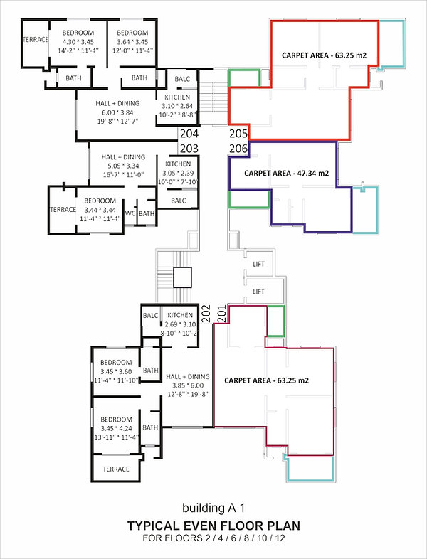 floor plan DEVI Crest