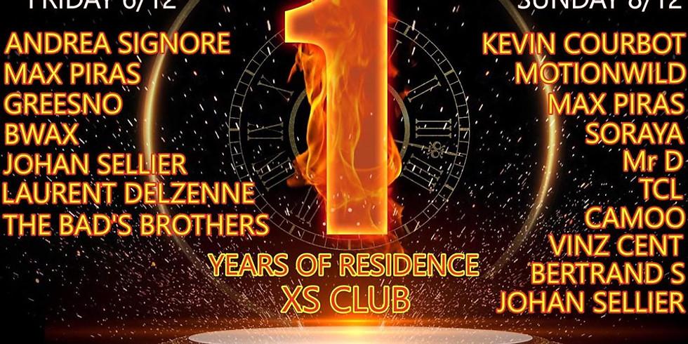 Max Piras 1 Years of Residence XS CLUB