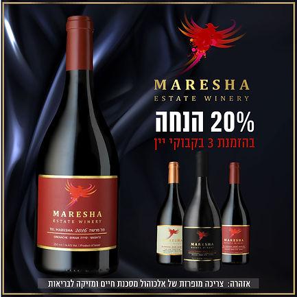 מבצע פסח 2021 - 20% הנחה בקניית 3 בקבוקי יין
