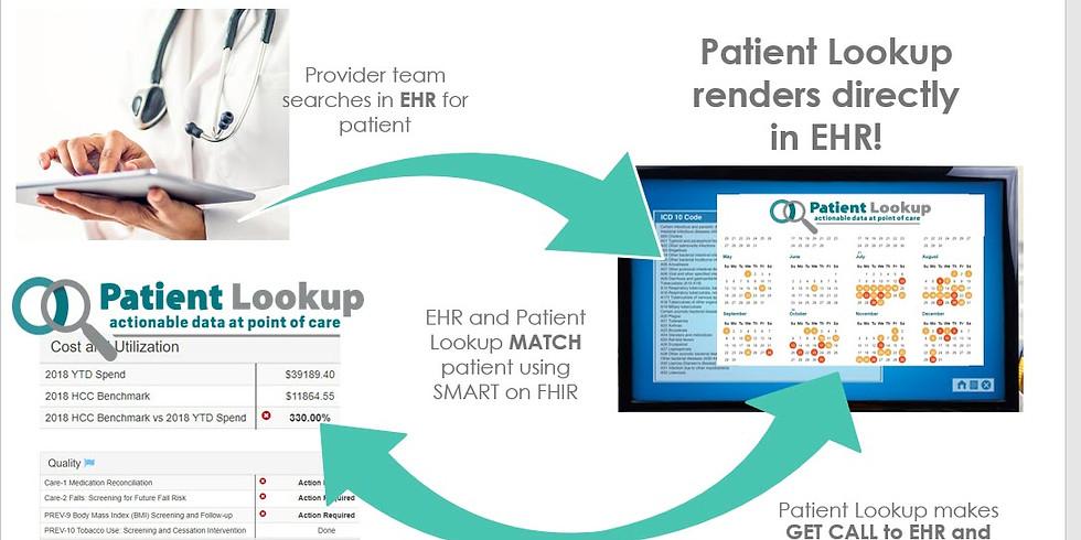 Patient Lookup SMART on FHIR