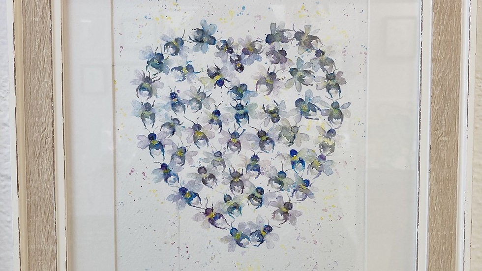 Original Bumbling Bee Heart