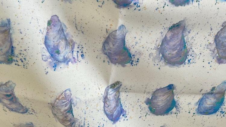 Cornish Mussels Tea Towel