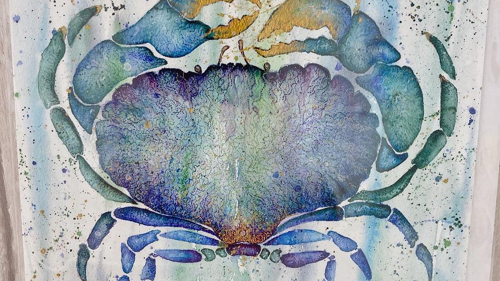 Blue Crab greeting card.