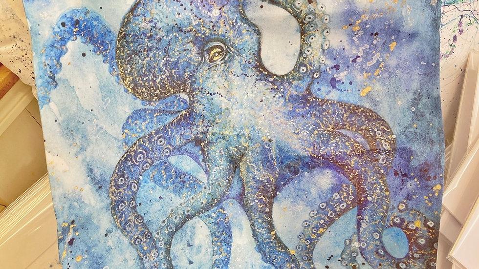 Galactic Octopus Tea Towel