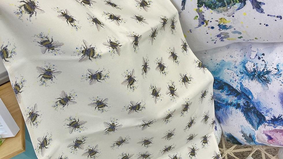 Bumbling Bumblebees Tea Towel