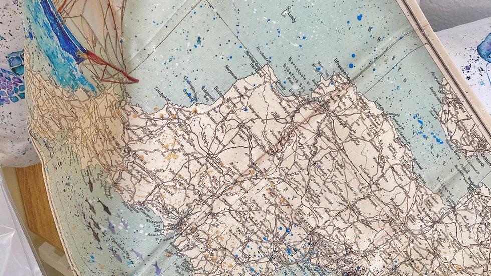 Bessie Ellen Vintage Map Tea-Towel