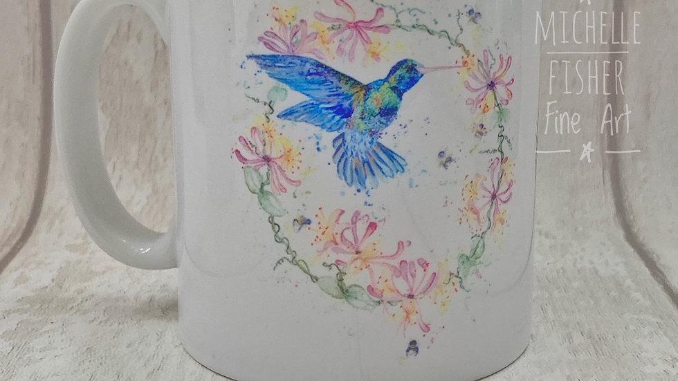 Hummingbird & Honeysuckle mug