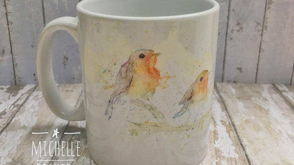 Three Robins Mug