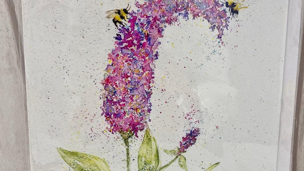 "Greeting card ""Hebe & Bees"""
