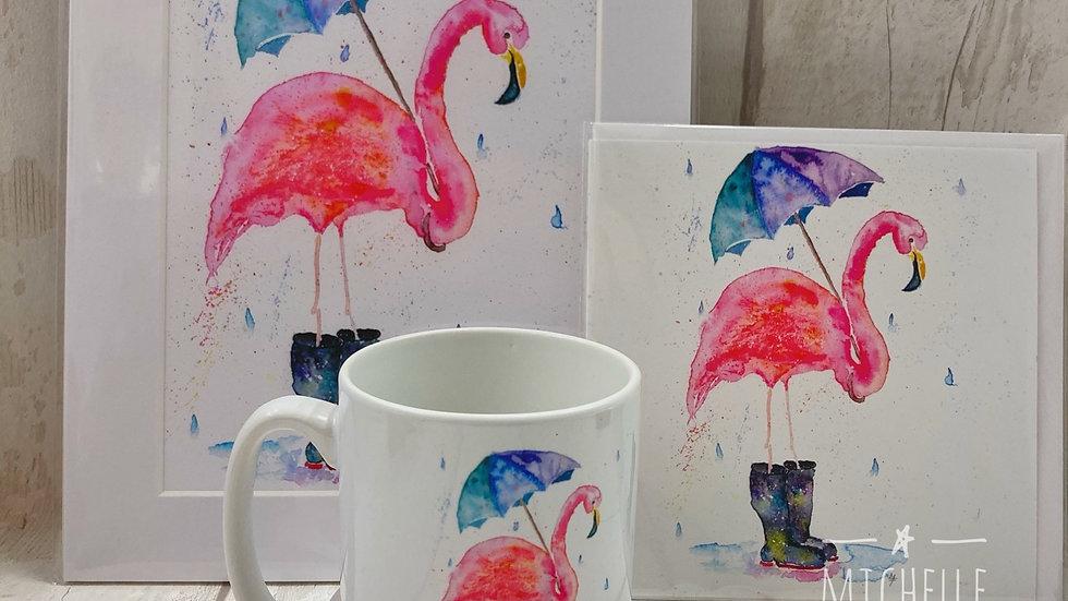 Rainy Flamingo set