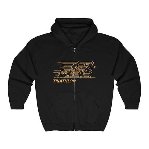 Unisex Heavy Blend™ Full Zip Hooded Triathlon Sweatshirt