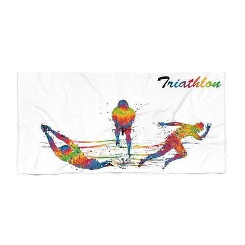 Colourful Triathlon Beach Towel