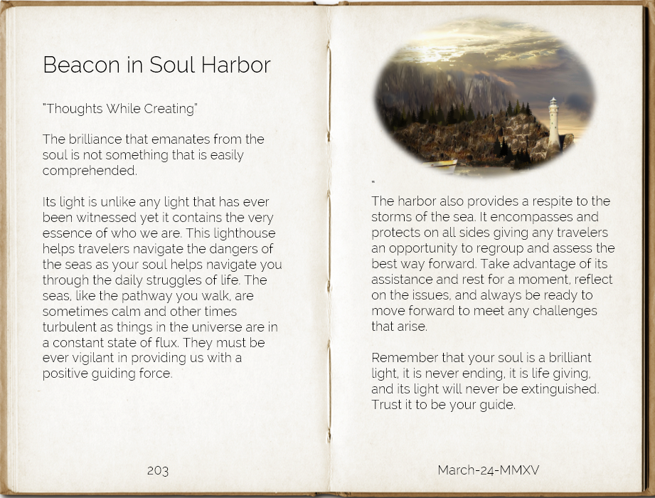 Beacon in Soul Harbor Thoughts