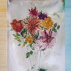 Mums Bouquet Tea Towel