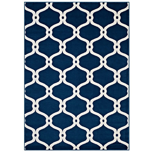 Beltara Chain Link Transitional Trellis 5x8 Area Rug