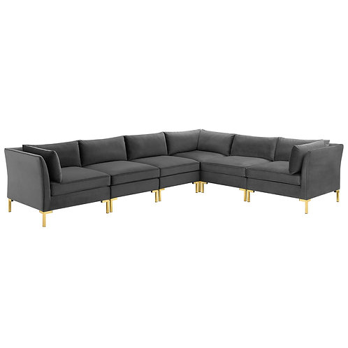 Ardent 6-Piece Performance Velvet Sectional Sofa