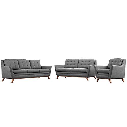 Beguile Living Room Set Upholstered Fabric Set of 3