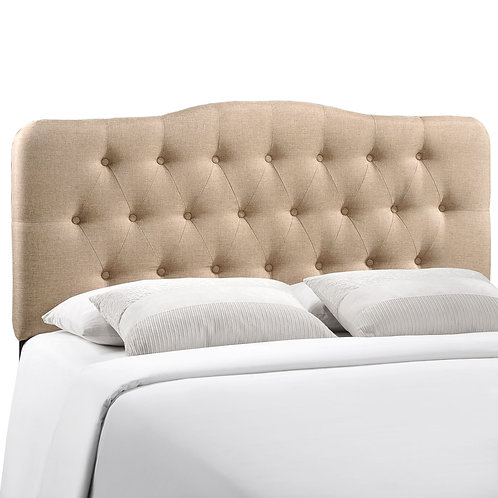 Annabel Full Upholstered Fabric Headboard