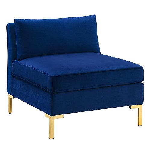 Ardent Performance Velvet Armless Chair