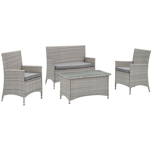 Bridge 4 Piece Outdoor Patio Patio Conversation Set