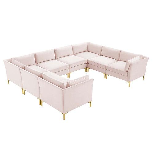 Ardent 8-Piece Performance Velvet Sectional Sofa