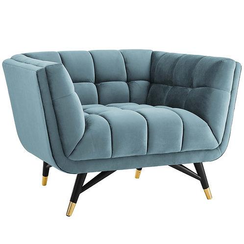 Adept Performance Velvet Armchair