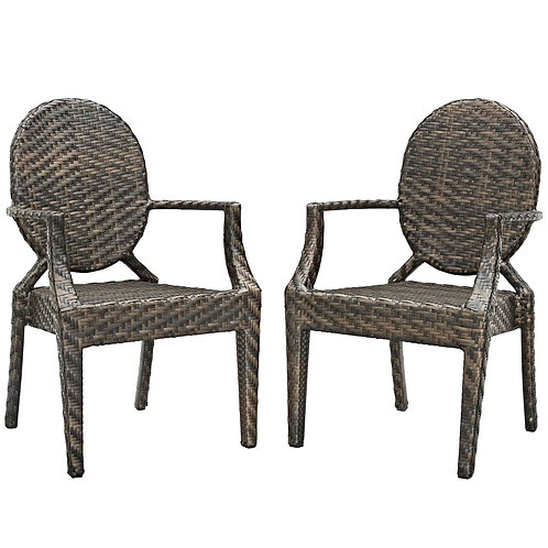 Casper Outdoor Patio Dining Armchair Set of 2
