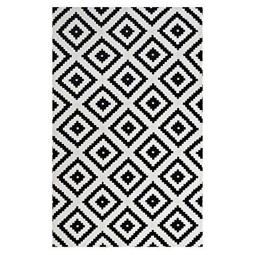 Alika Abstract Diamond Trellis 8x10 Area Rug