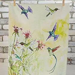 Hummingbirds Tea Towel