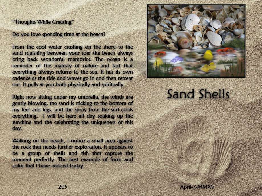Sand Shells Thoughts
