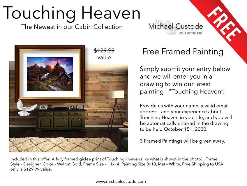Touching Heaven - Free Framed Painting.p