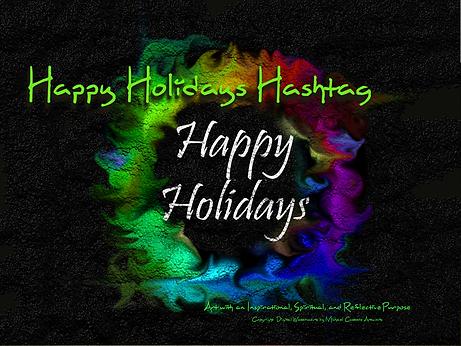 Happy Holidays Hashtag