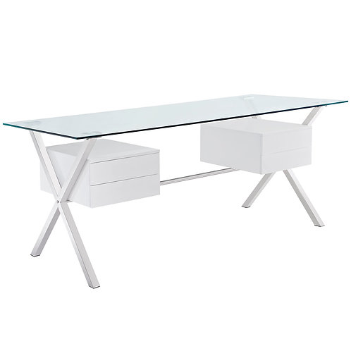 Abeyance Glass Top Office Desk