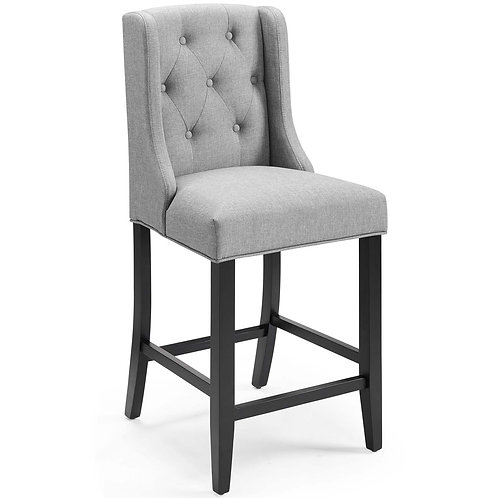 Baronet Tufted Button Upholstered Fabric Counter Stool