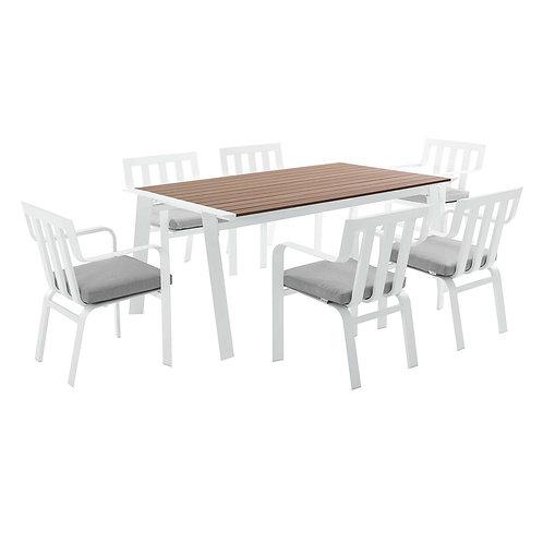 Baxley 7 Piece Outdoor Patio Aluminum Dining Set
