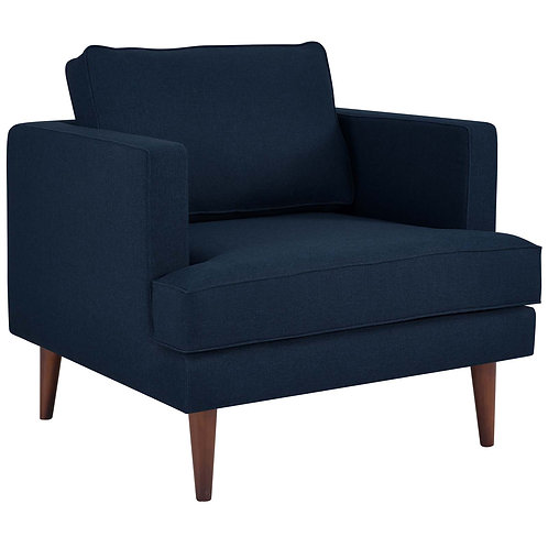 Agile Upholstered Fabric Armchair