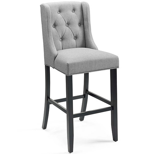 Baronet Tufted Button Upholstered Fabric Bar Stool