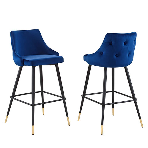 Adorn Performance Velvet Bar Stool Set of 2
