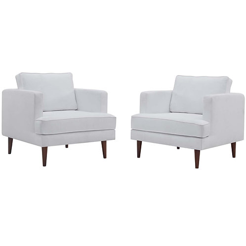 Agile Upholstered Fabric Armchair Set of 2