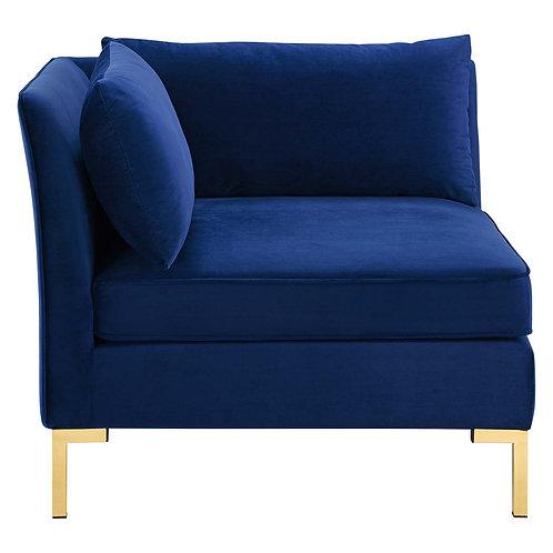 Ardent Performance Velvet Sectional Sofa Corner Chair