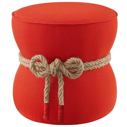 Beat Nautical Rope Upholstered Fabric Ottoman