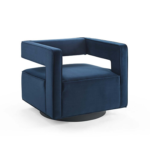 Booth Performance Velvet Swivel Armchair