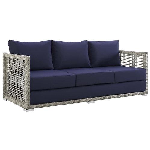 Aura Outdoor Patio Wicker Rattan Sofa