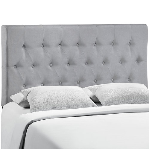 Clique King Upholstered Fabric Headboard