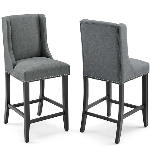 Baron Counter Stool Upholstered Fabric Set of 2