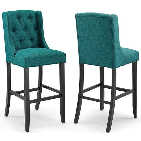 Baronet Bar Stool Upholstered Fabric Set of 2