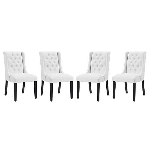 Baronet Dining Chair Vinyl Set of 4