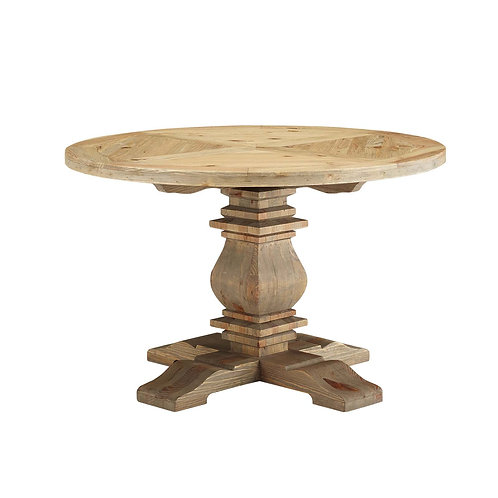 """Column 47"""" Round Pine Wood Dining Table"""