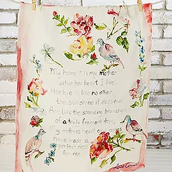 Mothers Poem Tea Towel