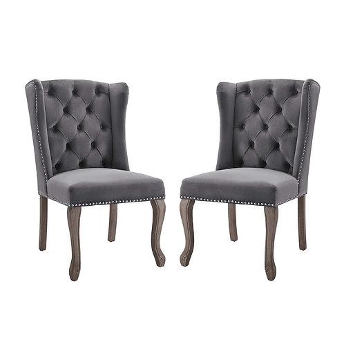 Apprise Side Chair Performance Velvet Set of 2